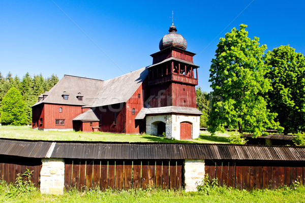 wooden church of Holy Cross, Lazisko, Slovakia Stock photo © phbcz