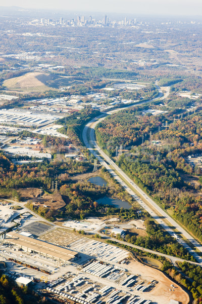 Widok z góry Atlanta Gruzja USA krajobraz latać Zdjęcia stock © phbcz