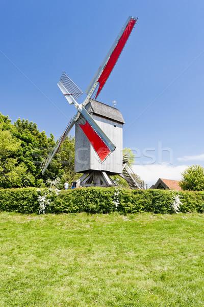 windmill of Terdeghem, Nord-Pas-de-Calais, France Stock photo © phbcz