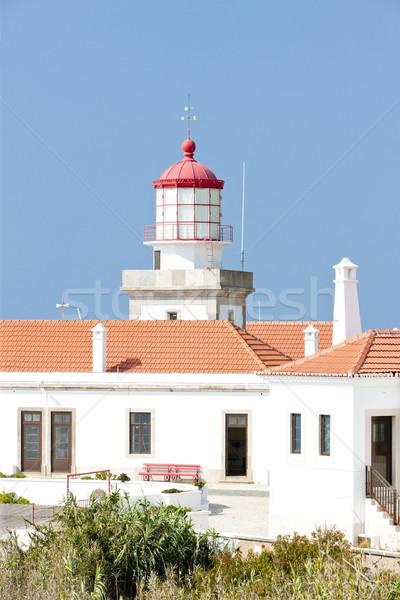 lighthouse at Cabo Mondego, Portugal Stock photo © phbcz