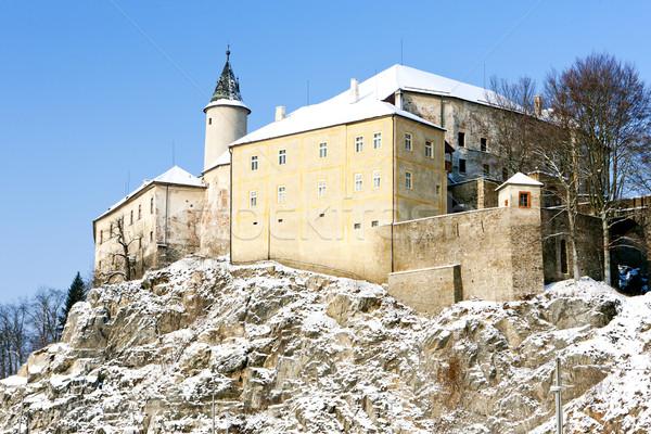 Сток-фото: замок · зима · Чешская · республика · снега · архитектура · Европа