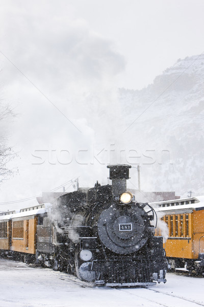 狭い ゲージ 鉄道 コロラド州 米国 雪 ストックフォト © phbcz
