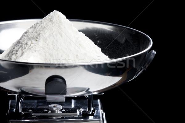 flour on kitchen scales Stock photo © phbcz