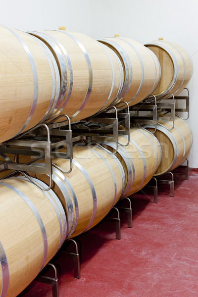 barrique barrels en winery Stock photo © phbcz