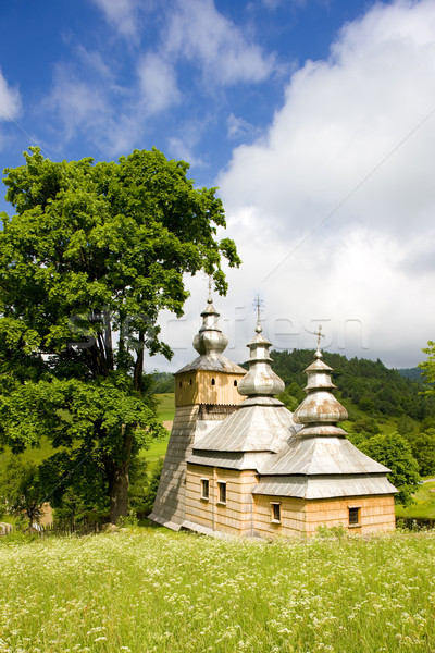 Bois église Pologne bâtiments architecture extérieur Photo stock © phbcz
