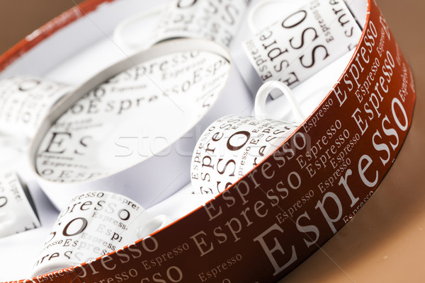 coffee cups stored in a box Stock photo © phbcz