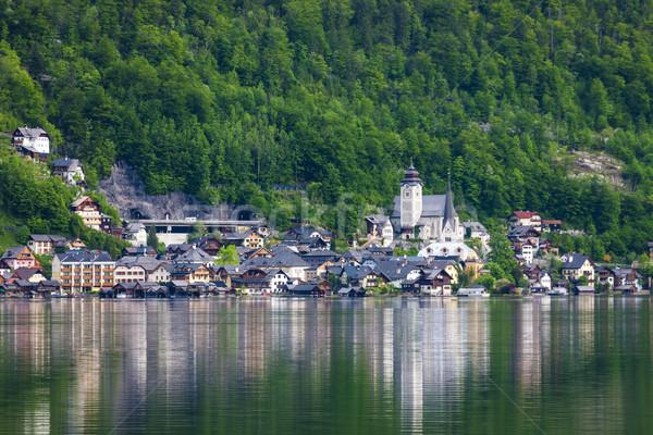 Áustria edifício igreja viajar lago arquitetura Foto stock © phbcz