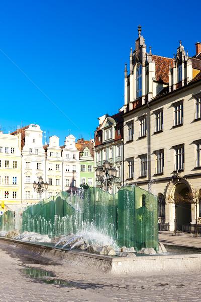 Principale mercato piazza Polonia acqua costruzione Foto d'archivio © phbcz