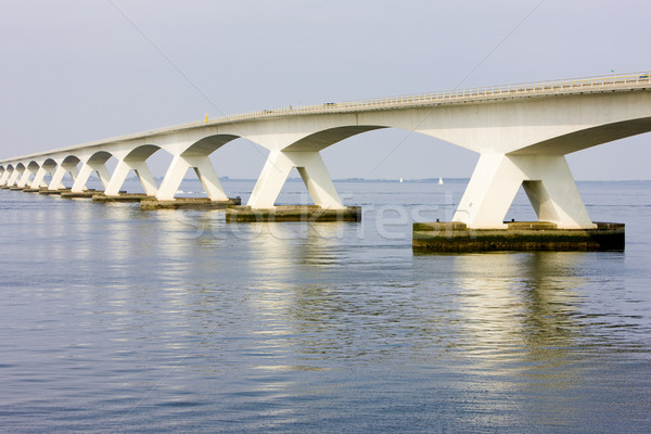 Nederland water gebouw brug architectuur beton Stockfoto © phbcz