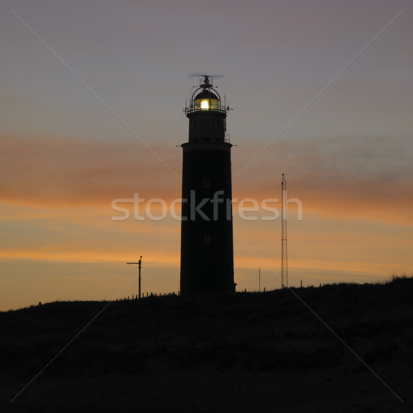 lighthouse at daybreak, De Cocksdorp, Texel Island, Netherlands Stock photo © phbcz