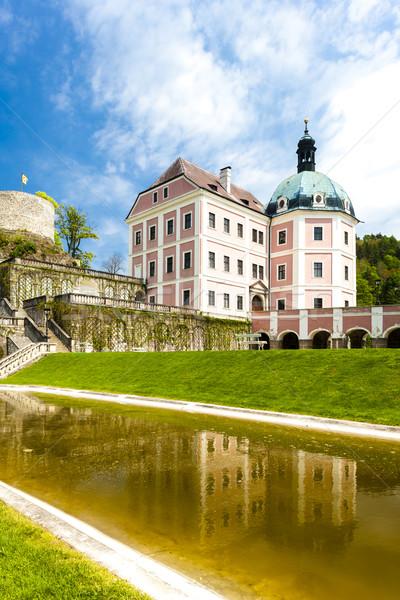 Palais République tchèque eau château architecture histoire Photo stock © phbcz
