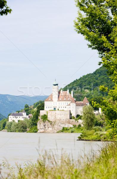 Zamek dunaj rzeki obniżyć Austria podróży Zdjęcia stock © phbcz