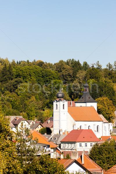 Csehország épület templom utazás építészet Európa Stock fotó © phbcz