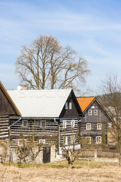 регион Чешская республика дома архитектура Европа Сток-фото © phbcz