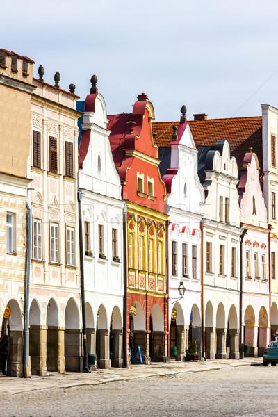 Házak Csehország épület város építészet Európa Stock fotó © phbcz
