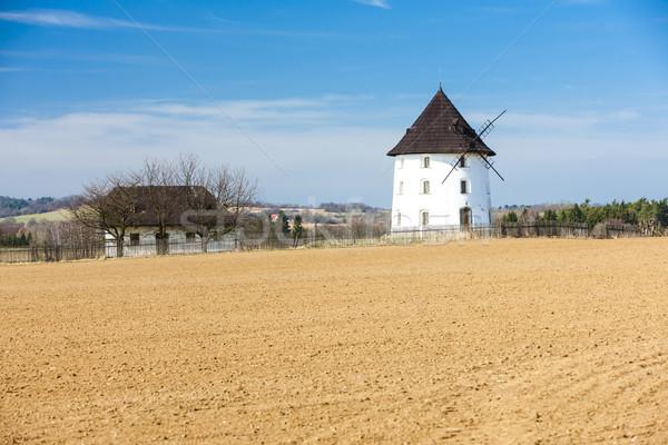 Windmill Чешская республика архитектура Европа улице сельский Сток-фото © phbcz