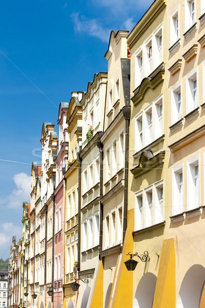 Kare Polonya ev şehir mimari kasaba Stok fotoğraf © phbcz