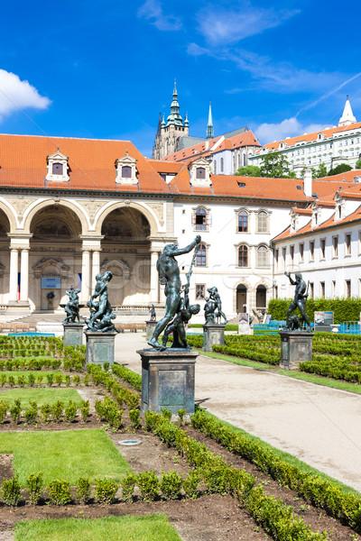 Stock photo: Valdstejnska Garden and Prague Castle, Prague, Czech Republic