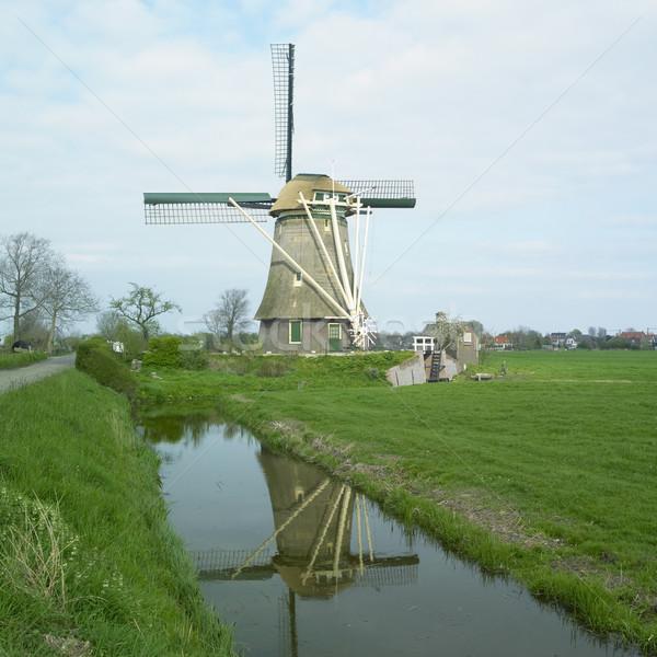 windmill near Nederhorst den Berg, Netherlands Stock photo © phbcz
