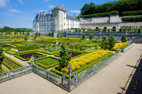 Villandry Castle with garden, Indre-et-Loire, Centre, France Stock photo © phbcz