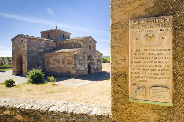 Road to Santiago de Compostela Stock photo © phbcz