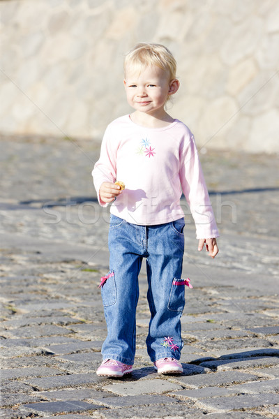 Stock photo: little girl on walk