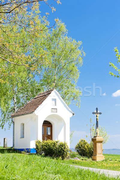 chapel with a cross, Vlcnov, Czech Republic Stock photo © phbcz