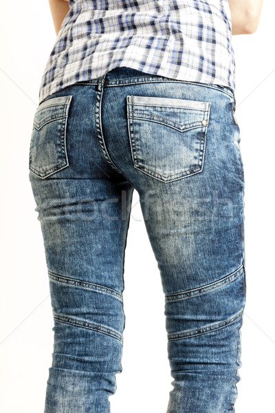 подробность женщину женщины моде джинсов Сток-фото © phbcz