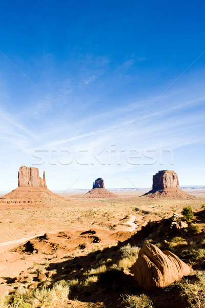 The Mittens and Merrick Butte, Monument Valley National Park, Ut Stock photo © phbcz