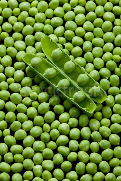 Hüvely zöldborsó háttér belső zöldségek zöldség Stock fotó © phbcz