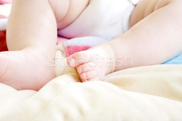 Láb gyerekek gyermek gyerek láb babák Stock fotó © phbcz