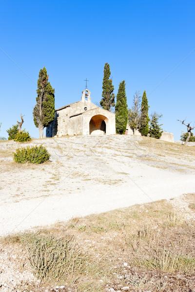 Küçük kilise Fransa kilise seyahat mimari Avrupa Stok fotoğraf © phbcz