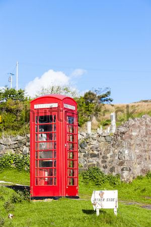 telephone booth, Clashnessie, Highlands, Scotland Stock photo © phbcz
