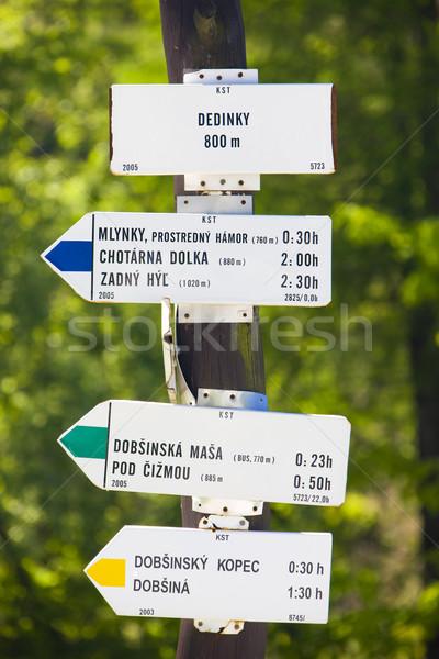guidepost, Dedinky, Slovakia Stock photo © phbcz