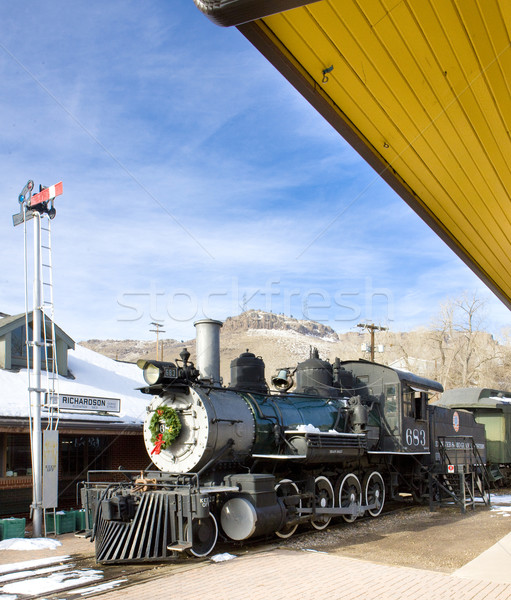 Stengel locomotief Colorado spoorweg museum USA Stockfoto © phbcz