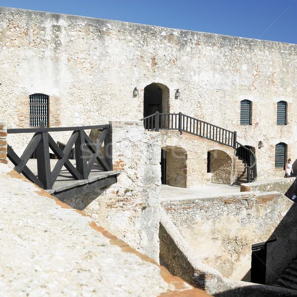 La château Santiago Cuba bâtiment Voyage Photo stock © phbcz