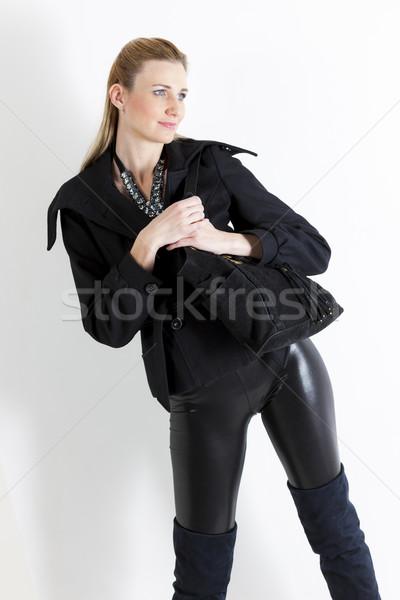 肖像 立って 女性 着用 黒 服 ストックフォト © phbcz