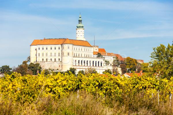 Mikulov with autumnal vineyard, Czech Republic Stock photo © phbcz