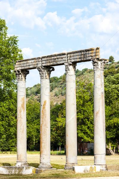 Roman Temple, Riez, Provence-Alpes-Cote d''Azur, France Stock photo © phbcz
