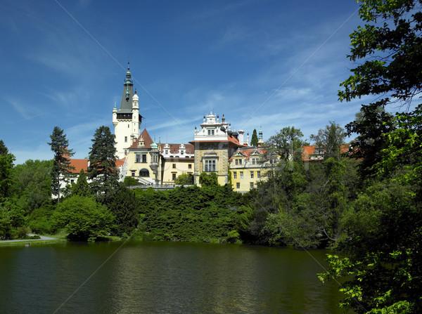 Pruhonice chateau, Czech Republic Stock photo © phbcz