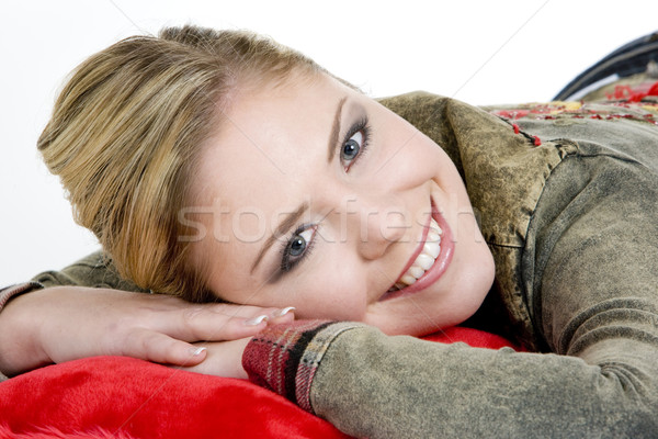 portrait of lying down woman Stock photo © phbcz