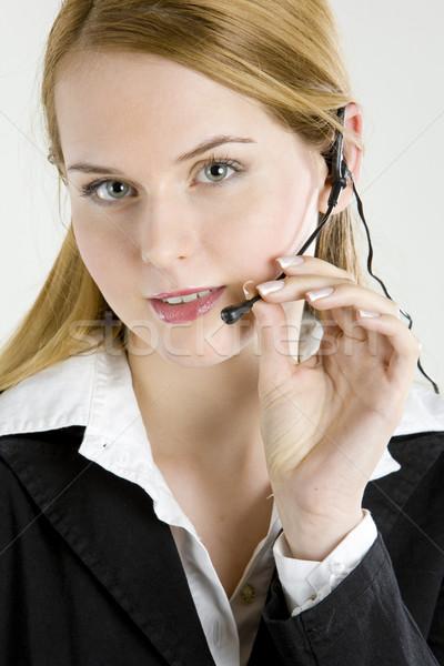 operator's portrait Stock photo © phbcz