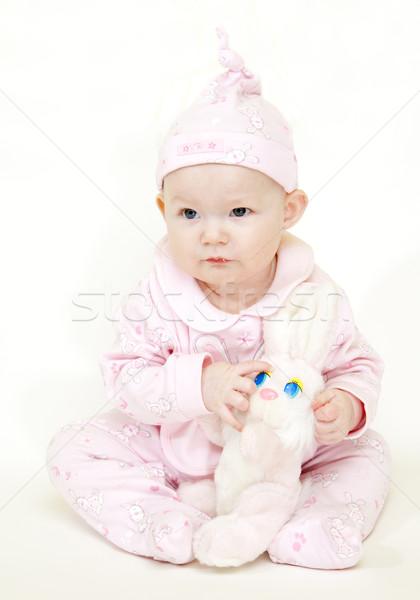 Vergadering konijn speelgoed kinderen kind Stockfoto © phbcz