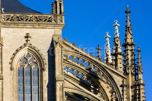 detail of Cathedral of St. Barbara, Kutna Hora, Czech Republic Stock photo © phbcz