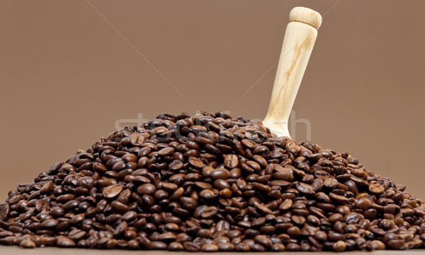 Natürmort kahve çekirdekleri kafe nesne bir kahverengi Stok fotoğraf © phbcz