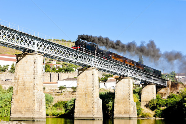 steam train in Douro Valley, Portugal Stock photo © phbcz