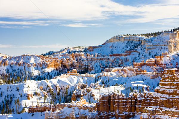 Canón parque invierno Utah EUA paisaje Foto stock © phbcz