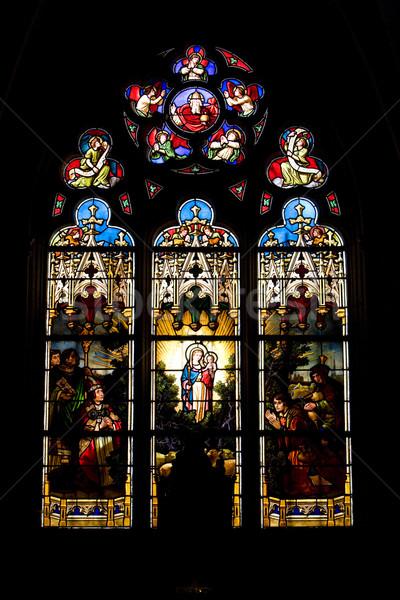 interior of basilica Notre-Dame-de-l Stock photo © phbcz