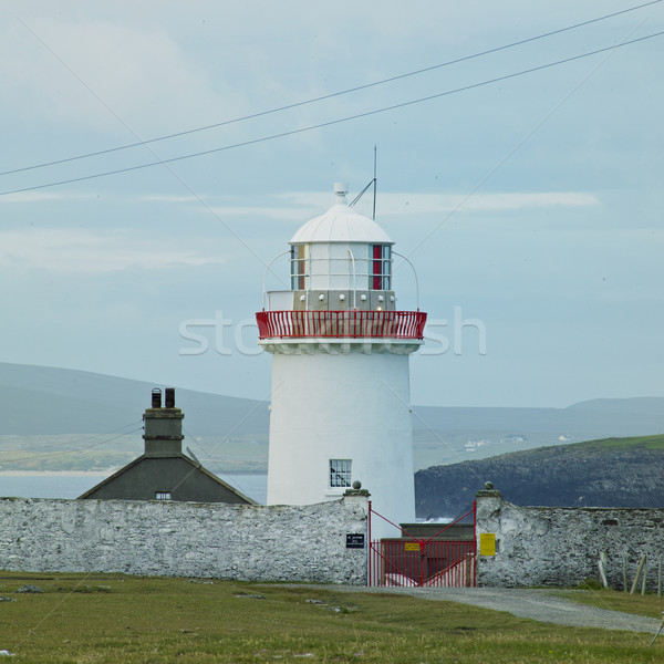 Farol península Irlanda edifício luz Foto stock © phbcz