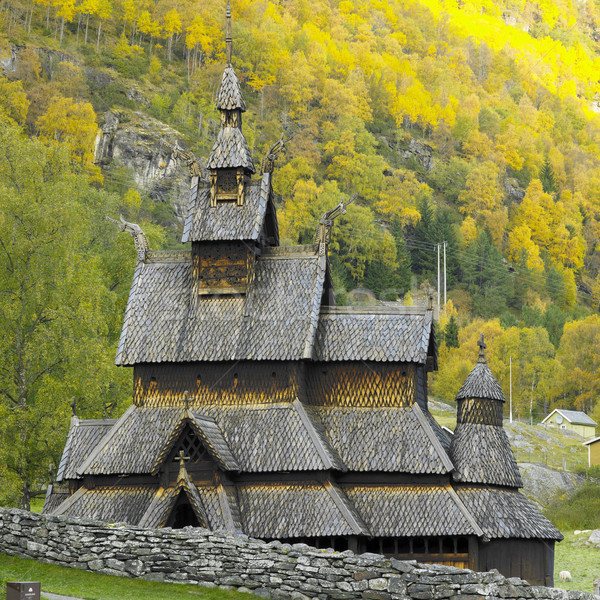 Borgund Stavkirke, Norway Stock photo © phbcz